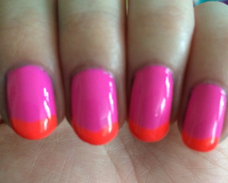 pink and orange closeup